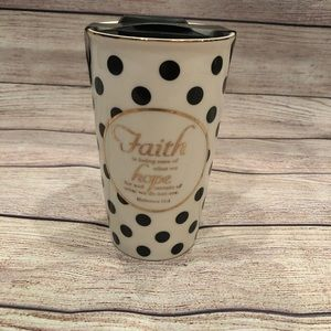 Faith Ceramic Coffee Travel Mug